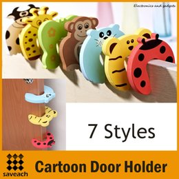 Wholesale Cartoon Animal Stop Door Stopper Decorative Holder Lock Safety Guard Finger Protection for Children Kids Baby