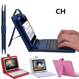 SH 2015 Optional Universal keyboard Micro USB Flip Protective Cover Tablet Leather Case For HP Slate 7 7inch Case 1-JP