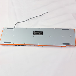 Al por mayor-Mejor teclado para juegos con conexión de cable USB 104 teclas de silicona teclados mecánicos de acero del soporte ergonómico teclado de ordenador Gamer Luom G100 desde usb con cable al por mayor del teclado de silicona fabricantes