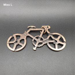 3D Puzzle Metal Cast Bike Ring, Novelty Ring Solution Puzzle Educational Toys Gift Kid Child Teaching Prop Toy