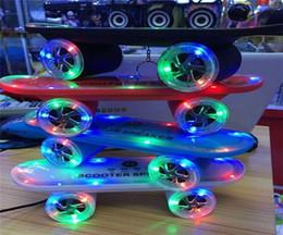 Wholesale 50pcs BT03L Skateboard Scooter Design Colorful LED Light Speaker Bluetooth Mini Wireless Stereo Speakers FM Radio Stereo MP3 Music Player
