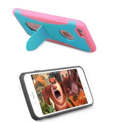 redpepper dropproof and stand case for iphone 6 6s plus dual color hybrid 2 in 1 shockproof case