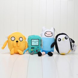 Wholesale 4pcs set New Adventure time Plush Toys Jake Finn Beemo BMO Penguin Stuffed Toys quot quot