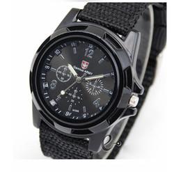 2017 reloj del ejército suizo deporte militar Hombre de la moda de moda Deportes Relojes militares Estilo Relojes del reloj para hombre del reloj de la correa de Swiss Army Gemius Reloj de pulsera de cuarzo Lienzo presupuesto reloj del ejército suizo deporte militar