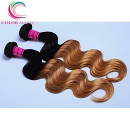 Ombre Indian Virgin Hair Body Wave 4pcs Unprocessed Virgin Indian Human Hair Weave 100g pcs Ombre Human Hair Bundles Deals