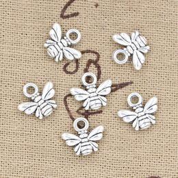 Wholesale 300pcs Charms bee mm Antique Zinc alloy pendant fit Vintage Tibetan Silver DIY for bracelet necklace