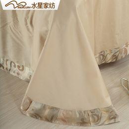 Wholesale Mercury Home Textile Aurora silk jacquard bedding set with duvet cover bed sheet