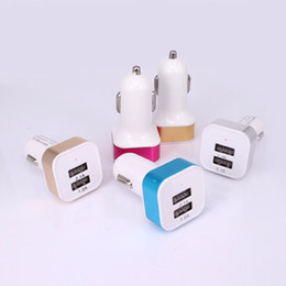 For samsung S7 S6 NOTE5 Double USB car charger Top quality car chargers For Iphone 6s 6 iphone 5 Sony LG HTC motorola