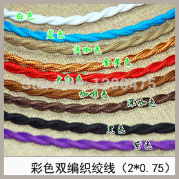 Wholesale Vintage multicolour knitted electrical wire pendant light twin cord cloth colourful wire lamp cord wire