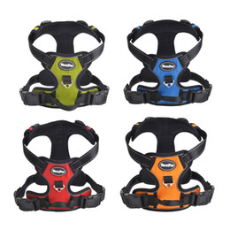 Free Shipping! Wholesale Large Dog Front Range Harness 3M Reflective Outdoor Sport No-Pull Harness Vest for Pet Accessories