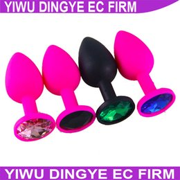 w1028 Gay Sex Toys Silicone Anal Toys Diamond Butt Plug Insert Stopper Jewelry Anal Toys