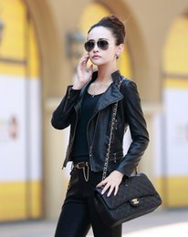 Wholesale High Quality Women Pu Leather Coat Fashion Stand Collar Biker Zipper design Women Ladies Leather Jacket Plus Size P040