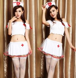 Wholesale Sexy Erotic Nurse - The nurse fission short skirt Lingerie game uniform suits sexy costumes for women erotic lingerie star wars costumes babydoll lingerie