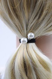 Wholesale Women Ponytail Holder with Imitation Pearl Rhinestone Hair Accessories Ball Handmade New Fashion High Quality for