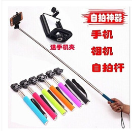 Wholesale Bestseller Monopod Selfiesticks Self rod Portable Handheld ForAndroid phone Stand Holder Romote Control Self Timer Wholesales