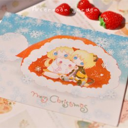 Wholesale-[Afternoon garden] Christmas doll Christmas postcard 2^greeting card