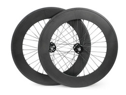 Wholesale FeiFan mm width c bicycle wheels track mm clincher carbon track wheel fixed gear single speed wheelset with hub Novatec