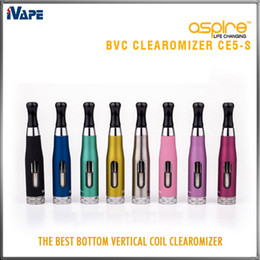 Aspire CE5-S BVC Clearomizer 100% Authentic Aspire CE5S BVC BDC E Electronic Cigarette eGo Atomizers 1.8ml CE5S Vaporizer with BVC BDC Coils