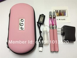 ego ce4 double starter kit electronic cigarette, ego-T twin kits with CE4 1.6ml 2.4ohm clearomizer e-shisha pen