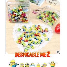 Wholesale Pencil eraser sets eraser rubber school Supplies and pvc bag Despicable Me Minions cute cartoon eraser set for kid s bag