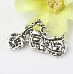 Wholesale MIC x14 mm Antique Silver Motorcycle Charms Pendants Fashion Jewelry DIY Fit Bracelets Necklace Earrings L494
