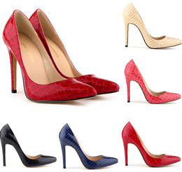 2019 Classic Pointed High-heeled shoes heel lighter women's shoes for women's shoes crocodile lines