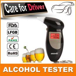 Wholesale Send mouthpieces Key Chain Alcohol Tester Digital Breathalyzer Alcohol Breath Analyze Tester BAC Max
