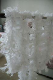 Free shipping 20pcs 200cm pcs white Feather Boas 40gram Chandelle Feather Boas Marabou Feather Boa turkey feather boa