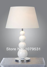 Modern 300mm Cloth Lamp Shade Ball Desk Table Lamp With E27 Lights,Residential Lighting