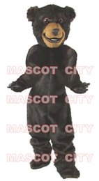Wholesale Baxter Bear Mascot Costume Adult Size Firece Animal Carnival Party Costume Cosply Fancy Dress Free Ship SW495