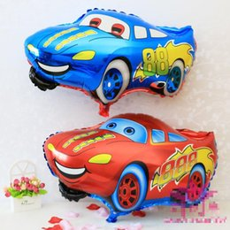 Wholesale Red Blue Car Foil Balloon Cartoon Cars Inflatable Foil Balloons Wedding Or Birthday Decoration Toy Globos Halloween