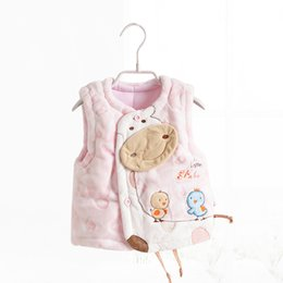 Wholesale-Limited quantity 2016 children's clothing winter baby clothes thickening vest newborn to 18M waistcoat outerwear clothes vests