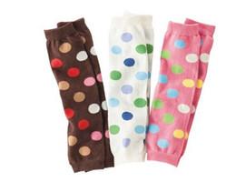 Wholesale Cute Fashion Dot Rainbow Stripes Baby Leg Warmers Warm For Boys and Girls Many Styles Colors Baby Leg Warm Random Send