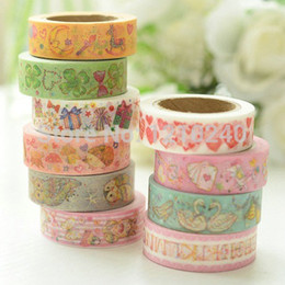 Wholesale 2016 New Color Printing Decorative Tape Washi Paper Adhesive Masking Craft Art Diy Album Photo Craft Fashion Gift Toys Home Decoration