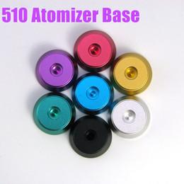 Mejor rba en venta-El mejor soporte de metal base de aluminio Clearomizer Base Atomizer Stand Suit para 510 Clearomizer RDA RBA oscuro caballo derringer plume velo niño
