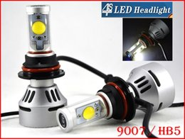 Promotion double t5 1 Set 9007-phares HB5 72W 7000LM LED CREE Auto Kit Hi / Low double 4S faisceau UPGRADED MTG2 CHIP Xenon Blanc 12 / 24V 5 Couleur modifiable
