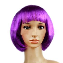 Wholesale New Fashionable BOB style Short Party Wig Wigs multicolors colors Halloween Christmas Women quot s Girls Fashion Hair Wigs Hairpiece hotest110104