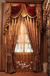 Wholesale Quality jacquard fashion luxury curtain