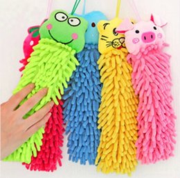 Wholesale Super absorbent baby hand towel drying chenille cartoon towel dry towel