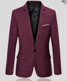 Wholesale-Mens Red Velvet Blazer New Ternos Masculino Mandarin Collar Mens Blazer Masculino Casual Black Navy Blue Red Velvet Blazer