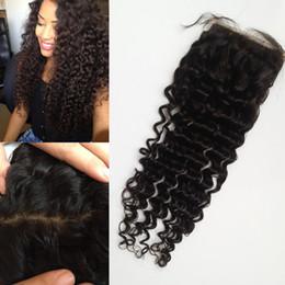 G-EASY Peruvian Virgin human hair silk base closure deep wave curly hair soft touch fast shipping