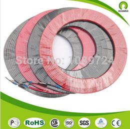 Comercio mayorista eléctrico 15M cable Superficie de calefacción / lot 230V 25W 12MM con la pantalla a tierra Tierra Dentro de pipa de agua del techo a prueba de agua desde cable calefactor techo proveedores