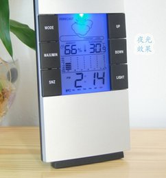 Wholesale Best Price Digital Blue LED backlight Temperature Humidity Meter Thermometer Hygrometer Clock