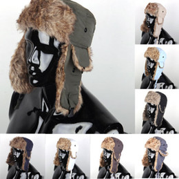 Wholesale 2015 Mens Warmer Warm Earflap Russian Trapper Bomber Winter Snow Ski Hat winter warm Cap colorful high quality