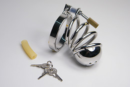Best chastity Steel Bird Cage Male Chastity Device Penis Cage Cock Cage Penis Ring Sex Toys for Men M500 chastity male 925