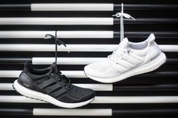 Wholesale 100 original quality autumn mens fashion add Ultra Boost white black Mesh Breathability sports shoes running shoes drop shipping size