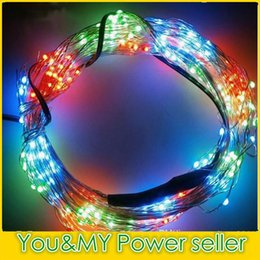 Edison2011 20PCS Free DHL 5M 50 LEDs Copper Wire LED String Fairy Light Chistmas Lights RGB Lighting For Xmas Party Wedding Decoration