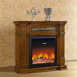 Wholesale Foshan manufacturers of high end European style fireplace m wood engraving American decorative frame Antique white dark