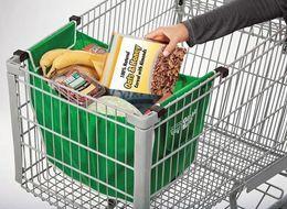 Clips de bolsas en venta-100 rectángulos reutilizables del bolso del supermercado del bolso de compras de la caja de las cajas / de la porción 2pcs / box para cargar el envío libre incorporado del almacenaje del carro de DHL