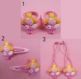 Wholesale pairs Ben and Holly s Little Kingdom Girls hair clip Hair rope for baby girl toys